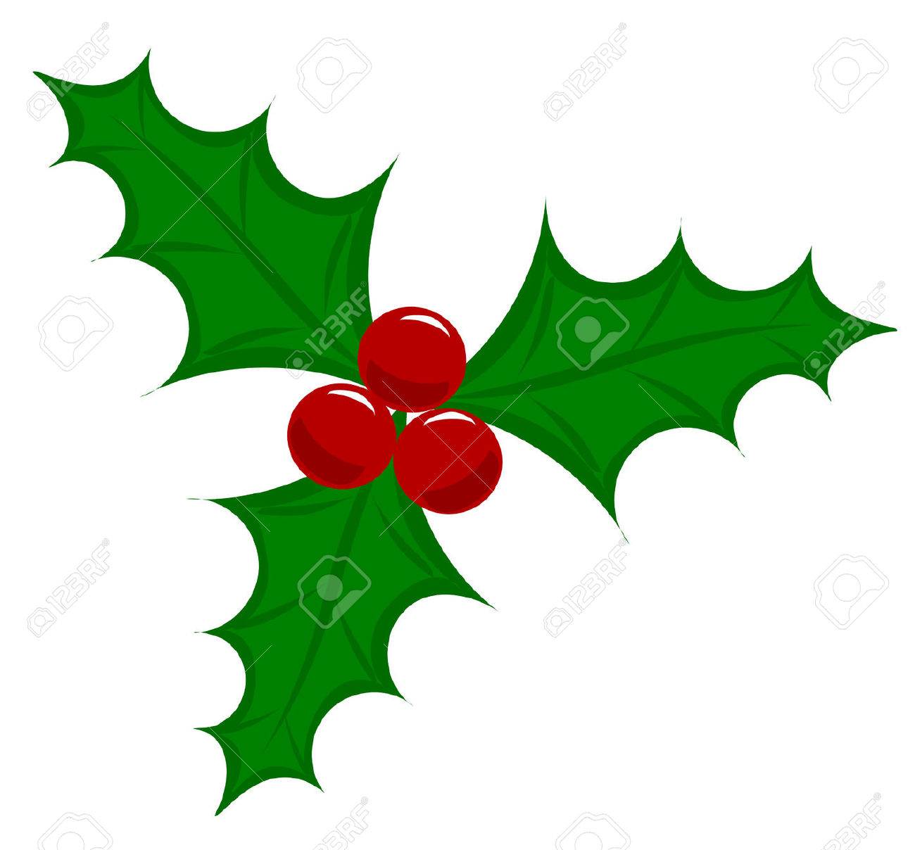 Free christmas holly cliparts. Berry clipart vector