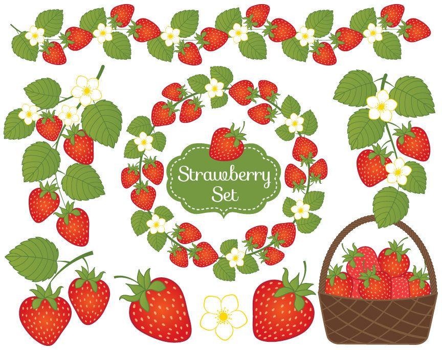 Art culo fresa im. Berry clipart vector