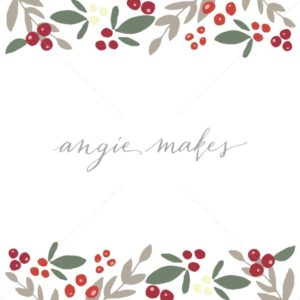 Cute holly wreath angie. Berry clipart winter
