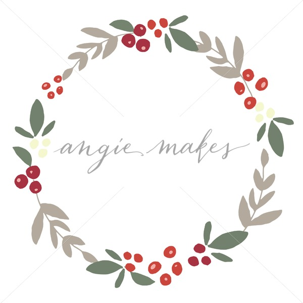 Berry clipart winter. Cute holly wreath angie