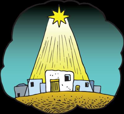 Image star of christart. Bethlehem clipart