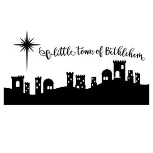 Silhouette design store view. Bethlehem clipart ancient city