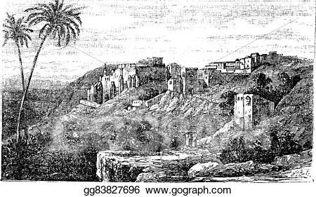 Bethlehem clipart ancient city. Vector stock palestine israel
