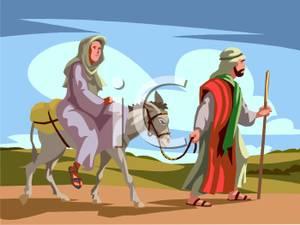 Mary and joseph traveling. Bethlehem clipart animated