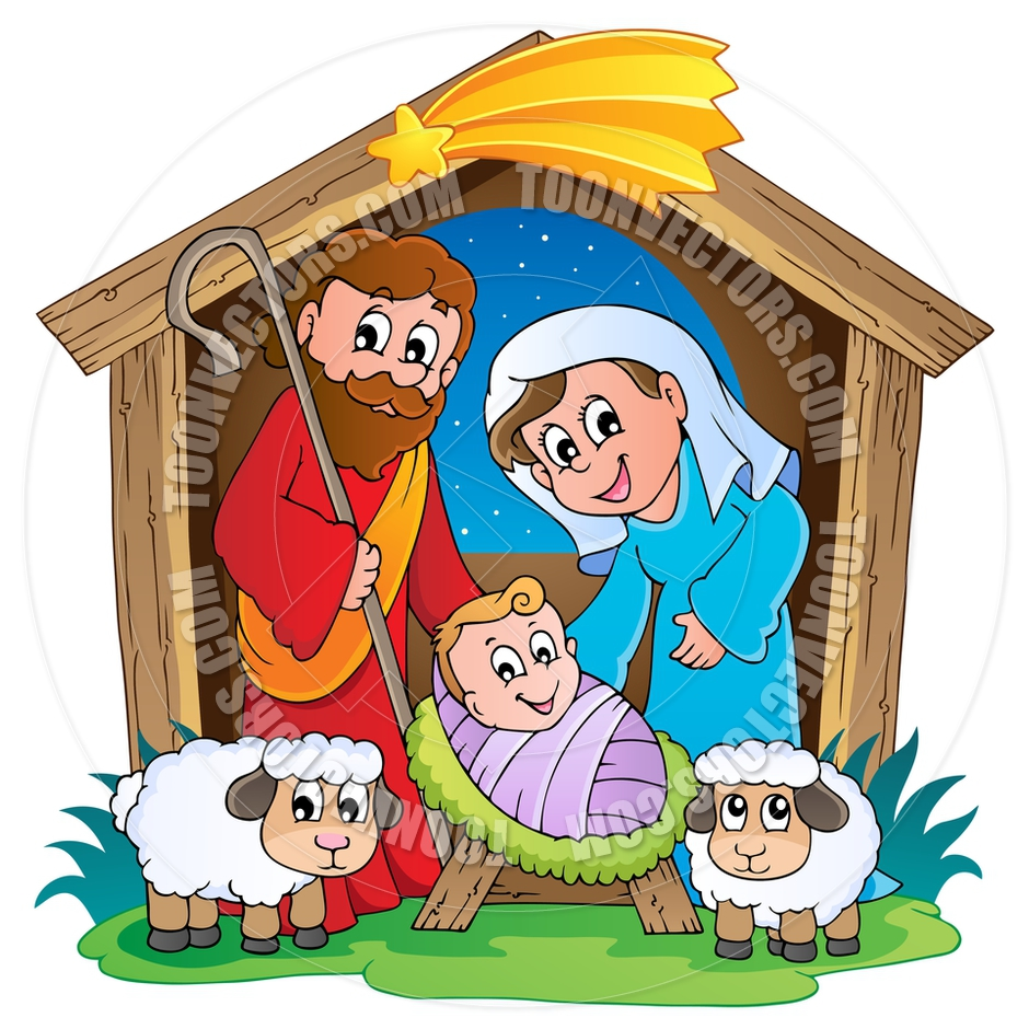 Bethlehem clipart animated. Manger collection cartoon nativity