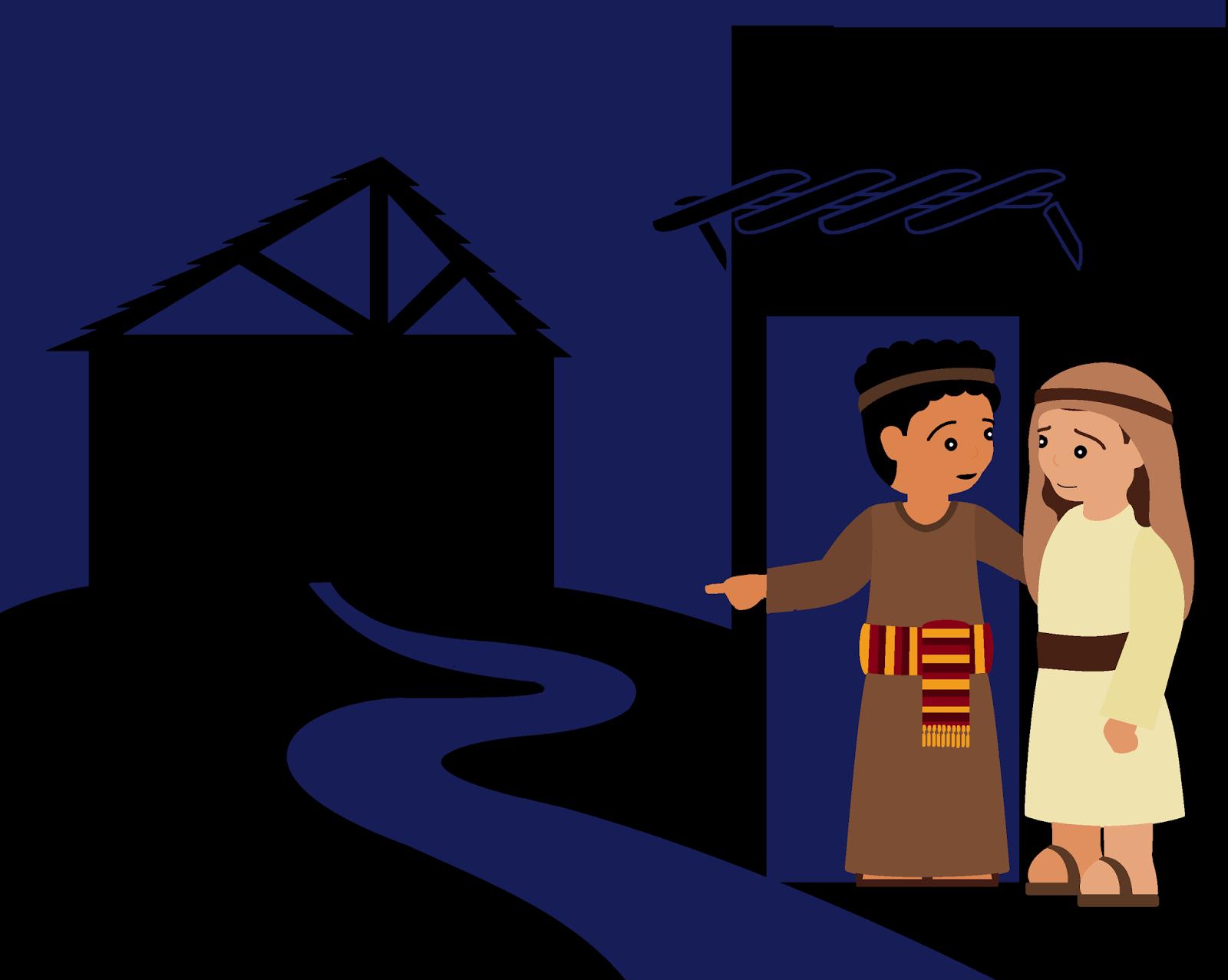 Bethlehem clipart animated. Song when joseph went