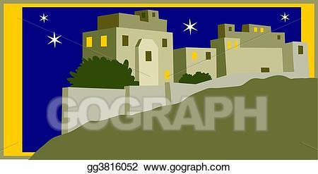 Bethlehem clipart bethlehem city. Stock illustration holy art