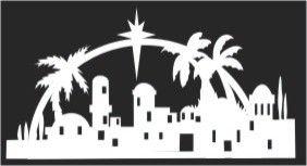 Bethlehem clipart bethlehem city. Silhouette of town o
