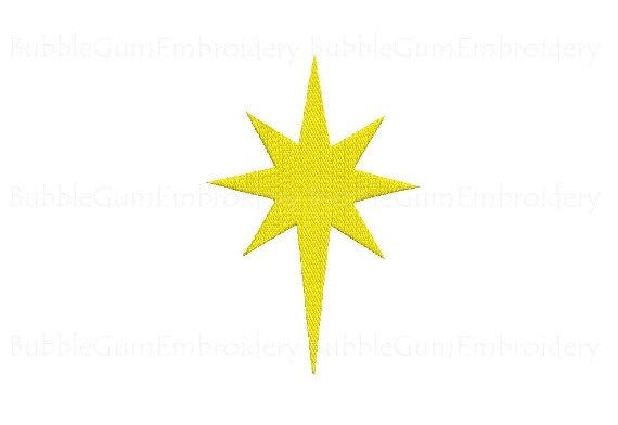 Of embroidery design instant. Bethlehem clipart bethlehem star