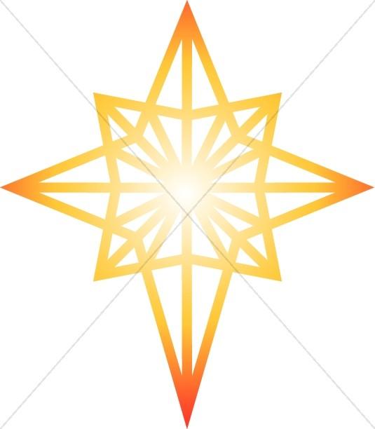 Epiphany clipart bethlehem. Glowing star of