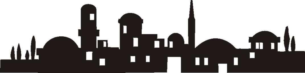 Bethlehem clipart bible city. Silhouette of town o