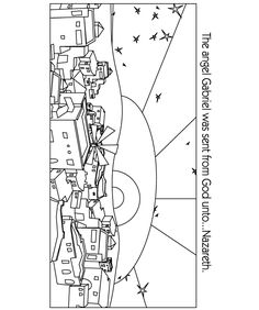 Bethlehem clipart bible city. Religious christmas coloring pages