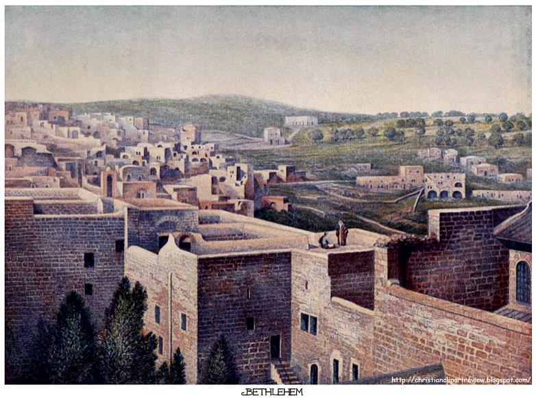 The old of christian. Bethlehem clipart biblical city