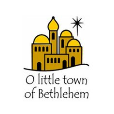 Silhouette of town o. Bethlehem clipart biblical city