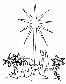 Bethlehem clipart black and white.  collection of star