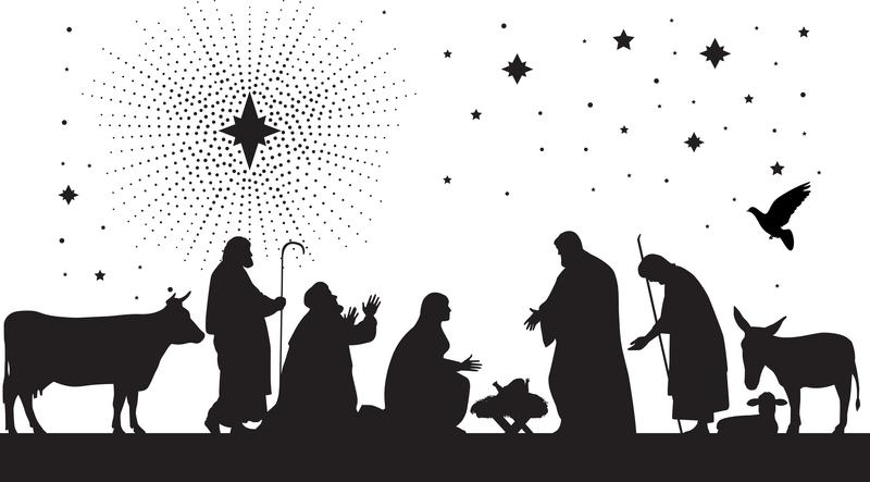 Logos back to sanibel. Bethlehem clipart black and white