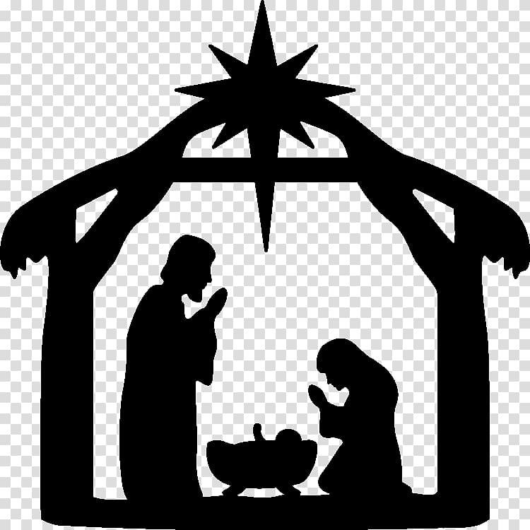 Nativity scene of jesus. Manger clipart outline