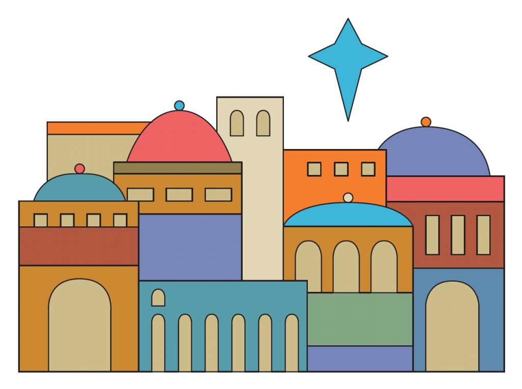 Bethlehem clipart cartoon. Free pattern aqs blog