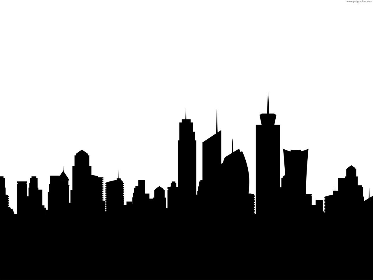 Bethlehem clipart cityscape. City skyline silhouette clip