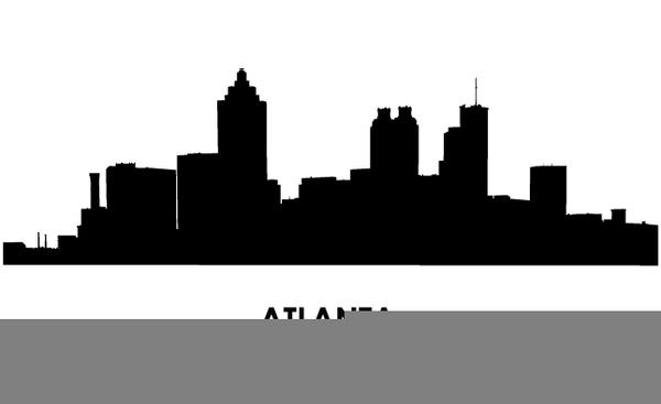 Free atlanta skyline images. Bethlehem clipart cityscape