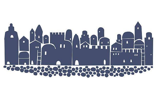 Bethlehem clipart cityscape. Skyline jerusalem first century