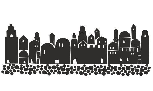 Bethlehem clipart cityscape. Jerusalem silhouette old city