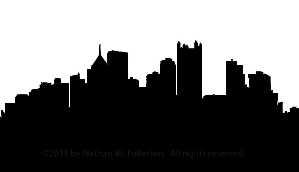 Pittsburgh skyline silhouette clip. Bethlehem clipart cityscape