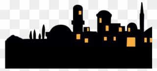Silhouette png . Bethlehem clipart cityscape