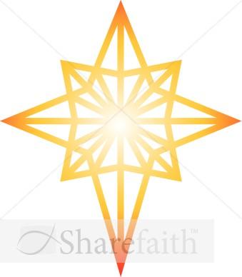 Bethlehem clipart clip art. Glowing star of epiphany