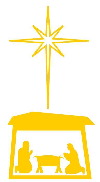 Star of silhouette at. Bethlehem clipart clip art