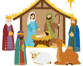 Etsy . Bethlehem clipart creche