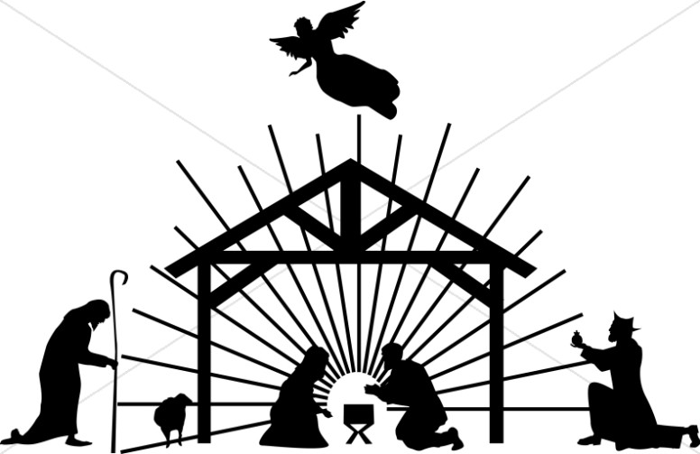Bethlehem clipart crib. Silhouette clip art at