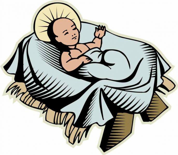 Bethlehem clipart crib. Jesus in a manger