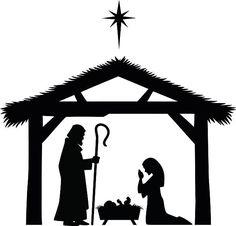 Bethlehem clipart crib. Christmas nativity religious scene