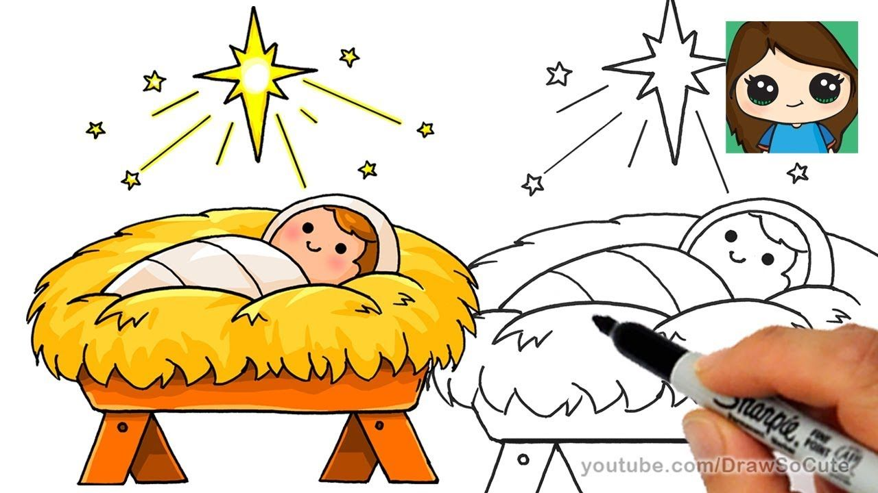 Bethlehem clipart cute. How to draw baby