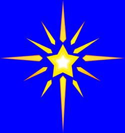 Star of best stars. Bethlehem clipart cute