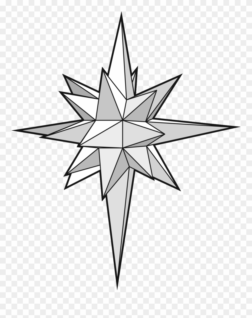 Star at getdrawings d. Bethlehem clipart drawing