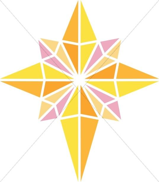 Christian clipart star. Bright nativity