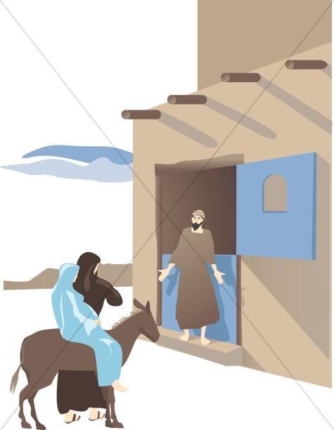 Nativity clipart inn. No room in the