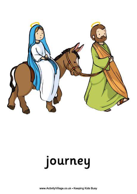 Printable image of mary. Bethlehem clipart journey
