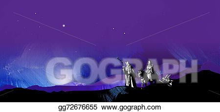 Bethlehem clipart journey. Stock illustrations graphic starry