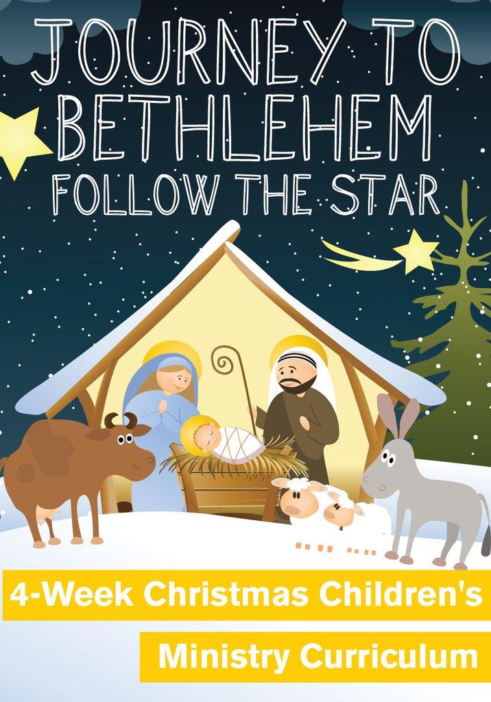 Bethlehem clipart journey. To week christmas children