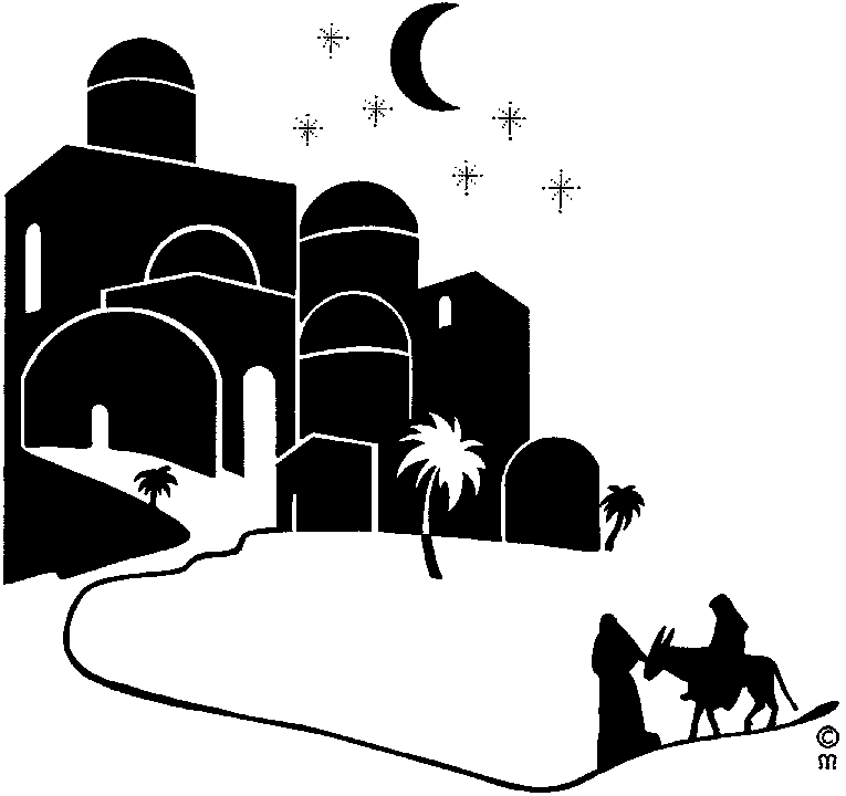 Bethlehem clipart journey.  collection of black
