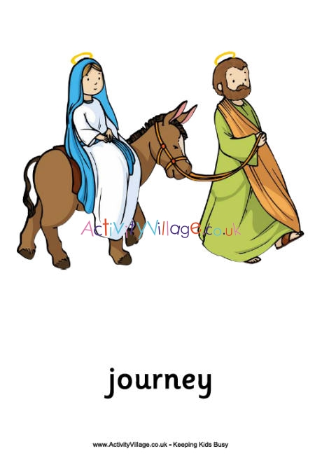 Nativity posters to printable. Bethlehem clipart journey