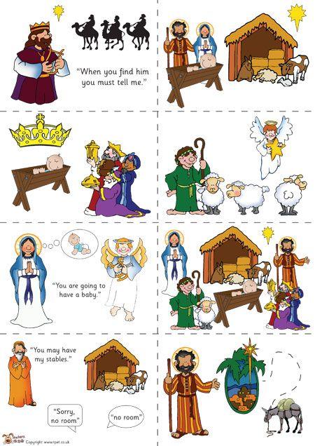 Bethlehem clipart nativity story. Teacher s pet sequencing