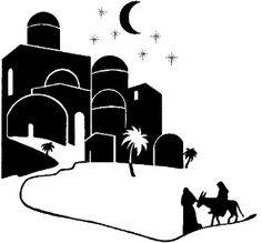 Bethlehem clipart nativity story. Free printable stencil the