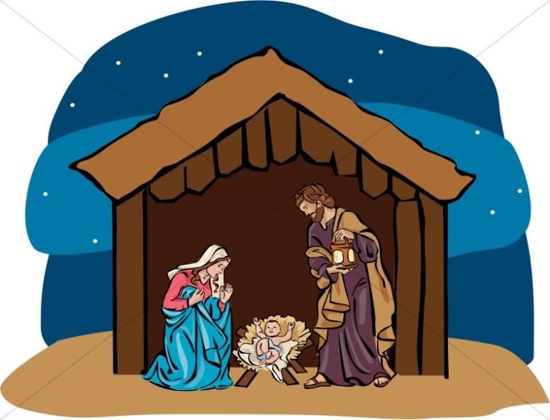 Bethlehem clipart nativity story. Nighttime