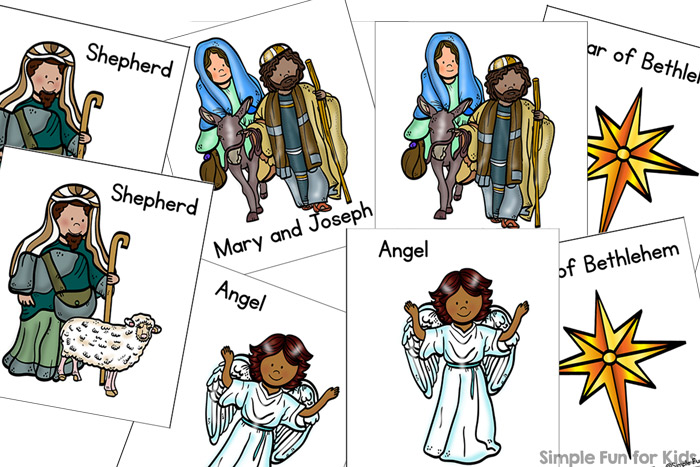Bethlehem clipart nativity story. Day matching game for