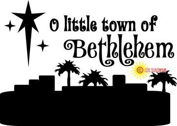 Of vinyl decal making. Bethlehem clipart o little town