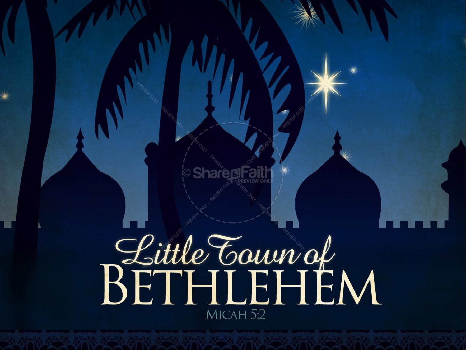 Oh of powerpoint template. Bethlehem clipart o little town